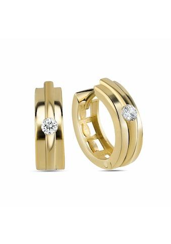 dKeniz Creolen »925/ -  Sterling Silber vergoldet Hochglanz Design O« kaufen