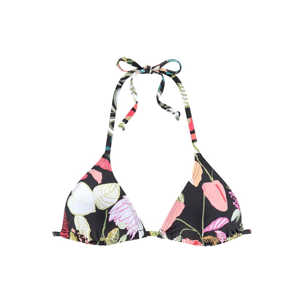 s.Oliver Triangel-Bikini-Top »Herbst«, mit floralem Design