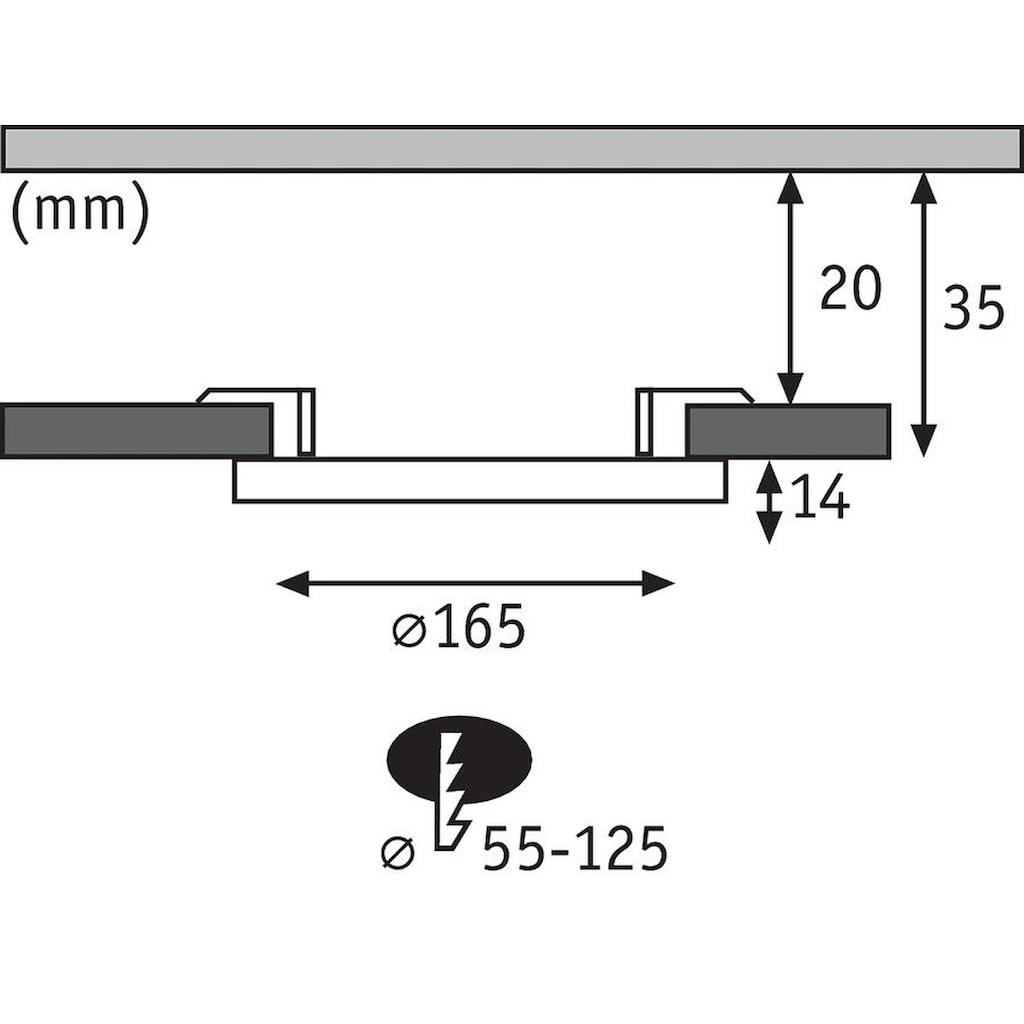Paulmann LED Einbaustrahler »Cover-it Panel rund 1x12W 3000K Weiß«, 1 St., Warmweiß