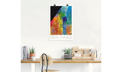 Artland Wandbild »Retro Karte Den Haag« kaufen
