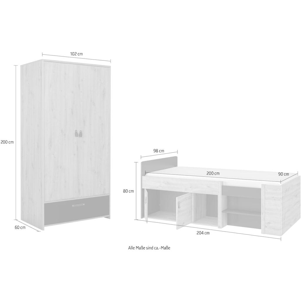 Gami Jugendzimmer-Set »Arthus«, (2 St.)