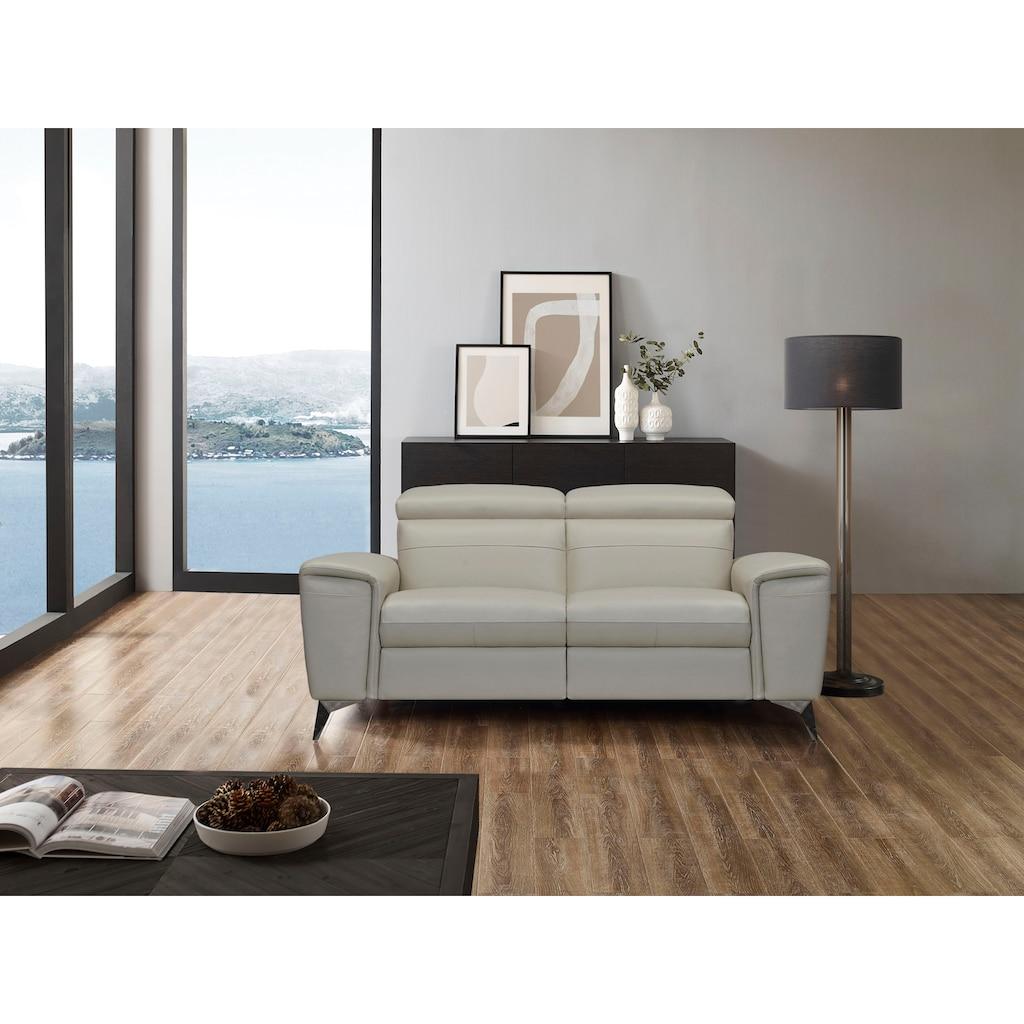 Places of Style 2-Sitzer »Theron«, elektrische Relaxfunktion, USB-Anschluss, manuelle Kopfteilverstellung