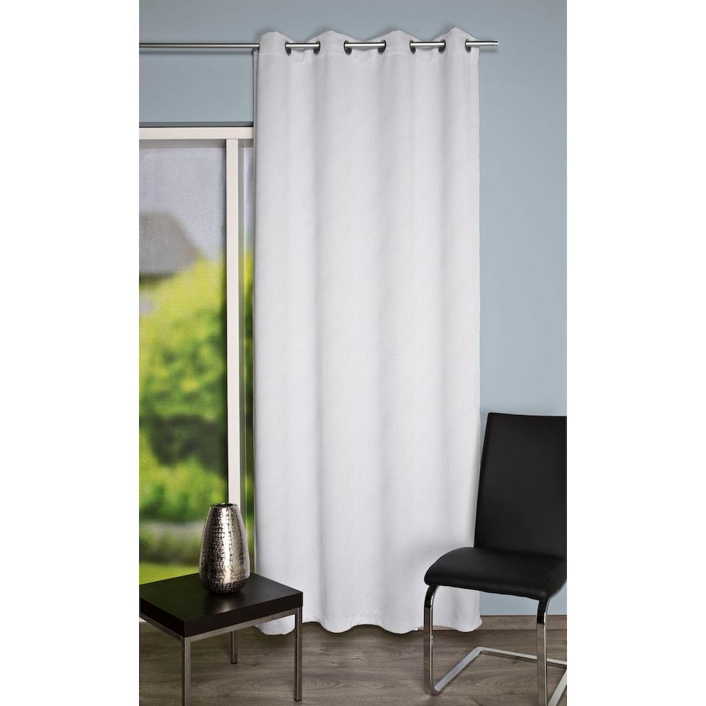 HOME WOHNIDEEN Vorhang »UNIVERSUM«, HxB: 245x140, Verdunklungsschal mit Glitzerdruck