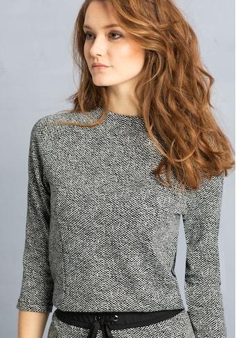 bianca Sweater »ELA«, in angesagter Tweed-Optik und Kelchkragen kaufen