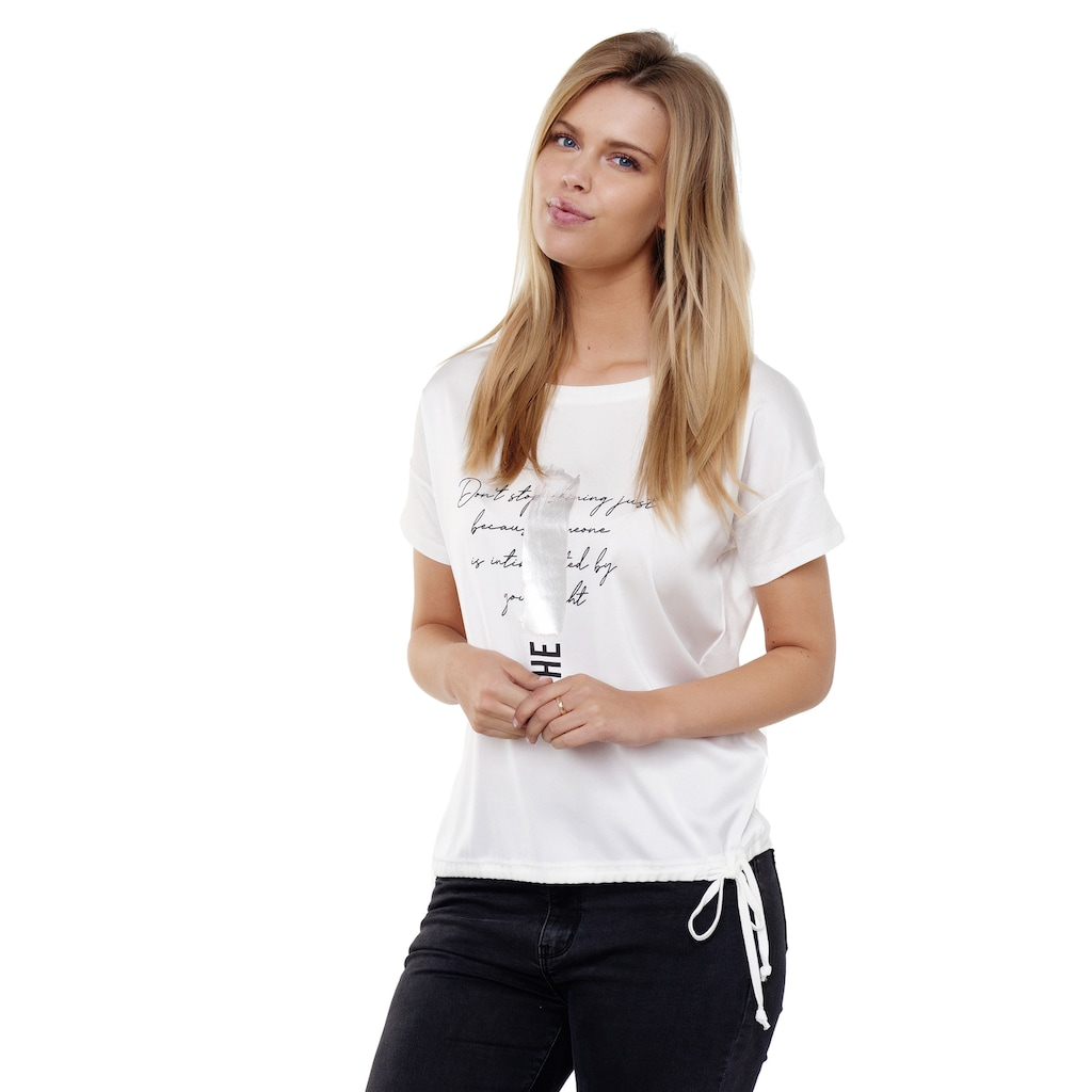 Decay T-Shirt, mit glänzendem Metalic-Effekt