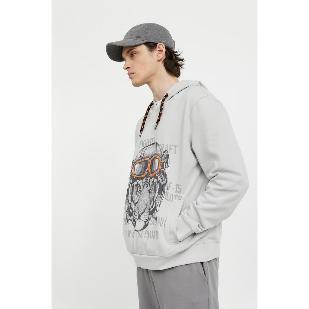 Finn Flare Kapuzensweatshirt, mit Tierprint