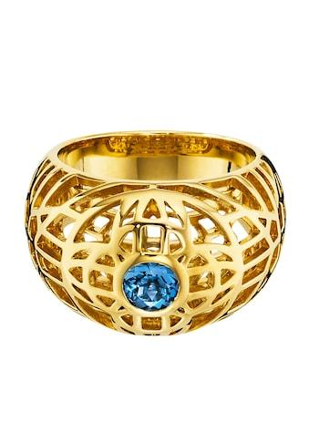 CAÏ Ring »925/ -  Sterling Silber vergoldet Topas blau« kaufen