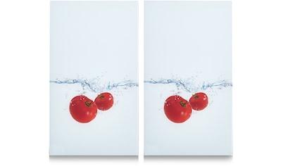 Zeller Present Schneide- und Abdeckplatte »Tomato Splash«, 6 rutschfesten Elastikfüßen kaufen
