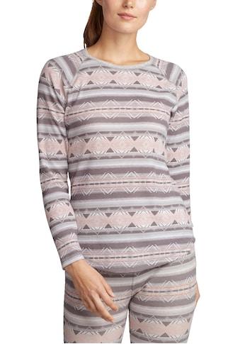 Eddie Bauer Langarmshirt, Stine's Favorite mit Waffelstruktur - gemustert kaufen