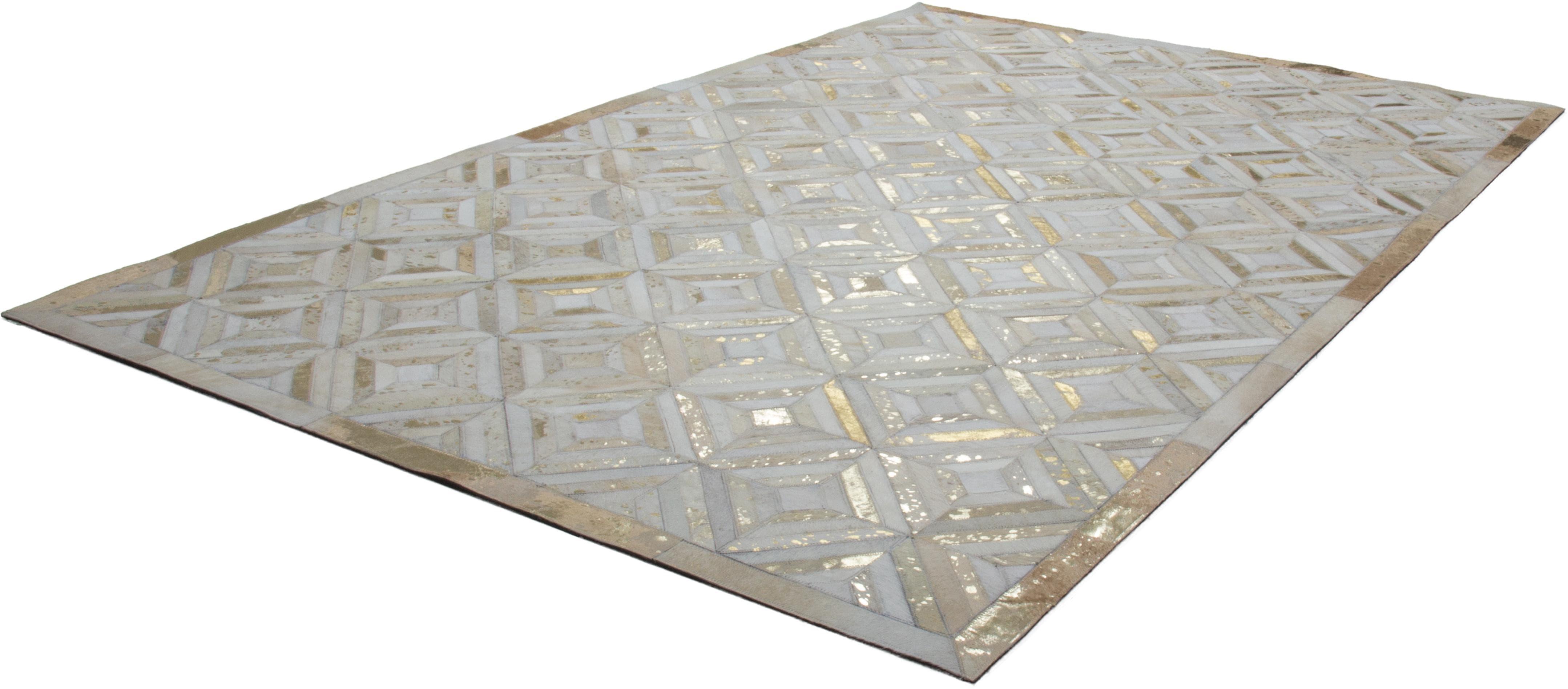 Lederteppich Spark 410 Kayoom rechteckig Höhe 8 mm handgewebt