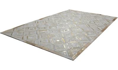 Kayoom Lederteppich »Spark 410«, rechteckig, 8 mm Höhe, Patchwork-echtes Leder-Fell, Wohnzimmer kaufen