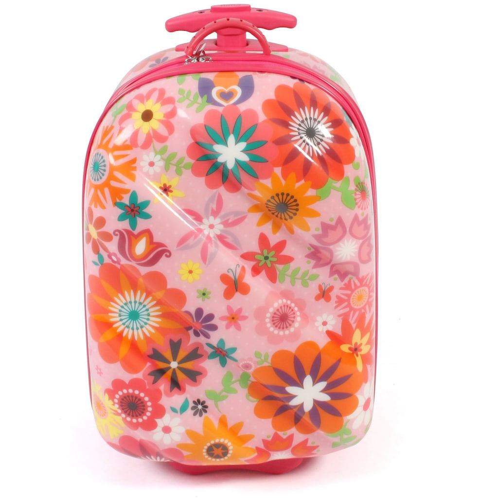 CHIC2000 Kinderkoffer »Bouncie, Flowers«, 2 Rollen, Hartschalen-Trolley