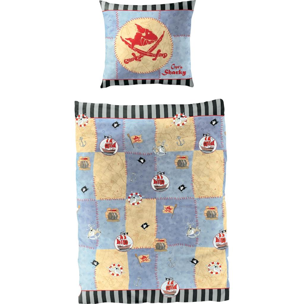 Capt`n Sharky Kinderbettwäsche »Hai«, in coolem Wendedesign