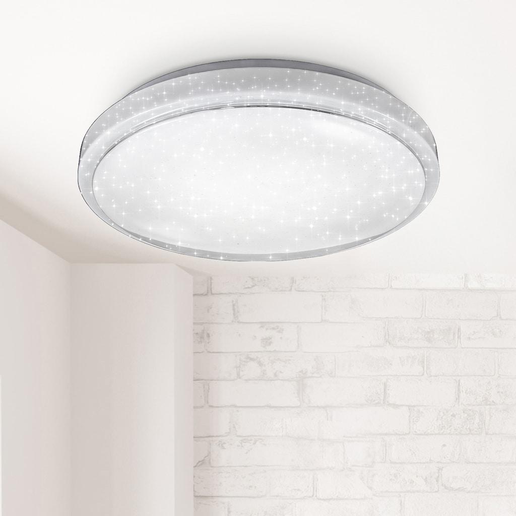 B.K.Licht LED-Sternenhimmel, LED-Board, Warmweiß-Neutralweiß-Kaltweiß, Smart Home Deckenleuchte LED Sternenlicht Leuchte dimmbar 24W Glitzer Lampe WiFi