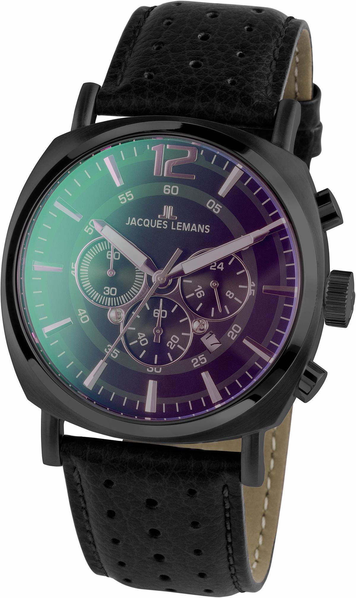 Jacques Lemans Sports Chronograph 1-1645N | Uhren > Chronographen | Schwarz | Jacques Lemans Sports