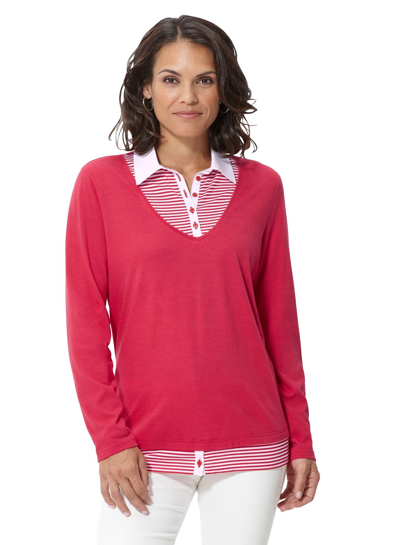 Casual Looks 2-in-1-Shirt im attraktiven Look | Bekleidung > Shirts > 2-in-1 Shirts | Rot | Casual Looks