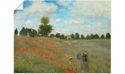 Artland Wandbild »Mohnfeld bei Argenteuil. 1873« kaufen