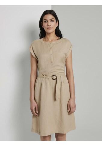 TOM TAILOR Shirtkleid »Hemdkleid mit Gürtel aus Leinengemisch« kaufen