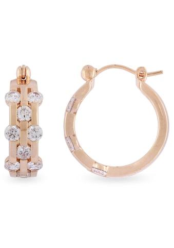 VILMAS Paar Creolen »Diamond Fever Boom, 4028146486355«, mit Zirkonia kaufen