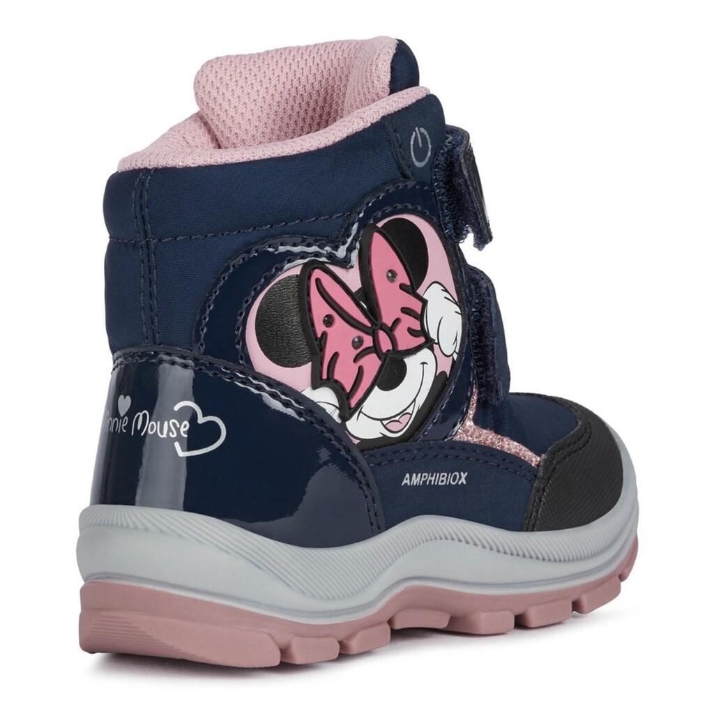 Geox Kids Winterstiefel »Disney Blinkschuh FLANFIL GIRL«, mit Blinkfunktion zum An- und Ausschalten