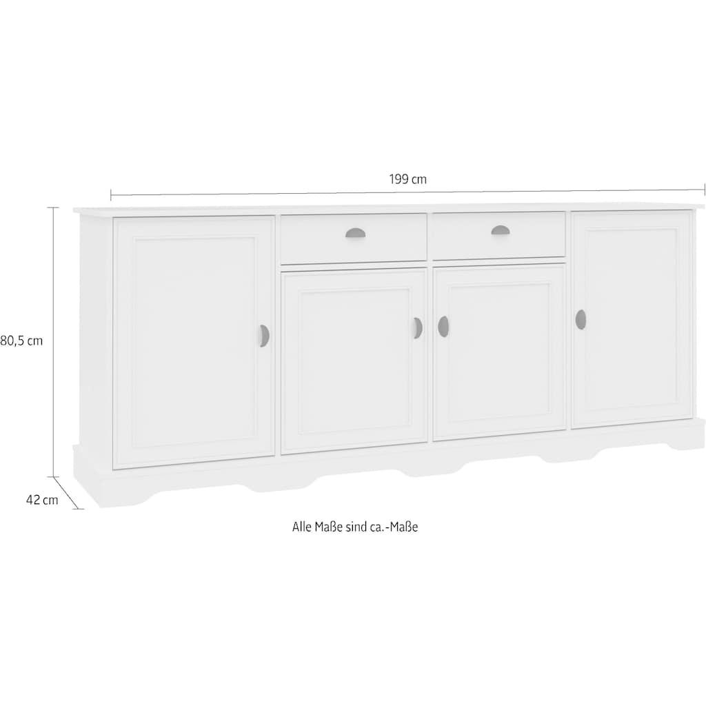 Home affaire Unterschrank »Nelli«, Breite 199 cm
