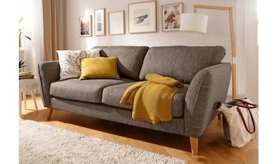 Home affaire 3-Sitzer »Marseille«, in skandinavischem Stil, in 3 Bezugsqualitäten, mit Holz-Beinen kaufen