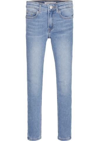 Calvin Klein Jeans Stretch-Jeans »SUPER SKINNY MR ESS LT BLUE STR«, mit Logo-Label kaufen
