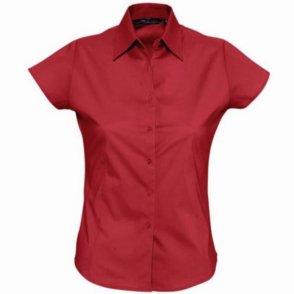 SOLS Hemdbluse »Damen Excess Bluse / Arbeitsbluse, Kurzarm«