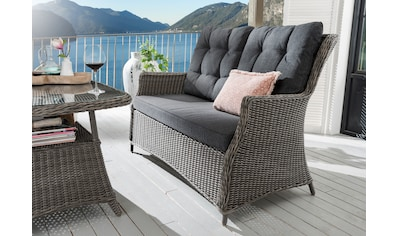 DESTINY Loungesofa »Casa«, 4 - tlg., Polyrattan, grau, inkl. Auflagen kaufen