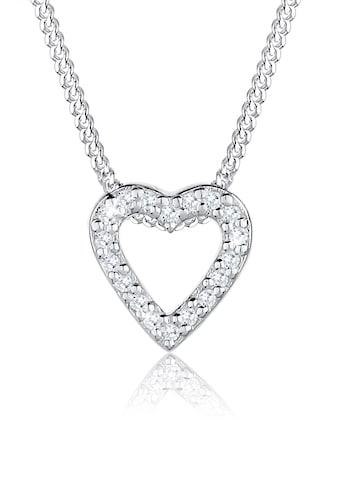 Elli Collierkettchen »Herz Liebe Zirkonia 925 Sterling Silber« kaufen