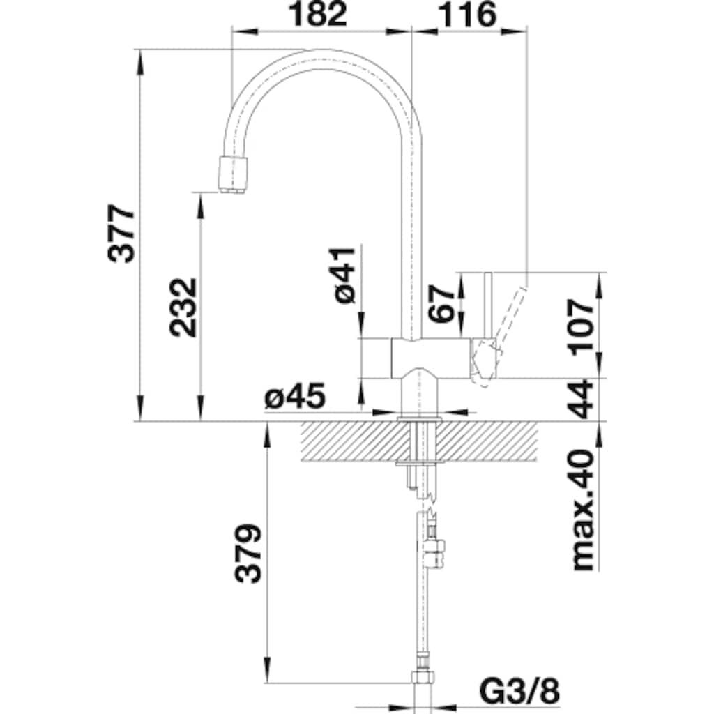 Blanco Küchenarmatur »FILO-S«, Hochdruck, mit ausziehbarem Auslauf