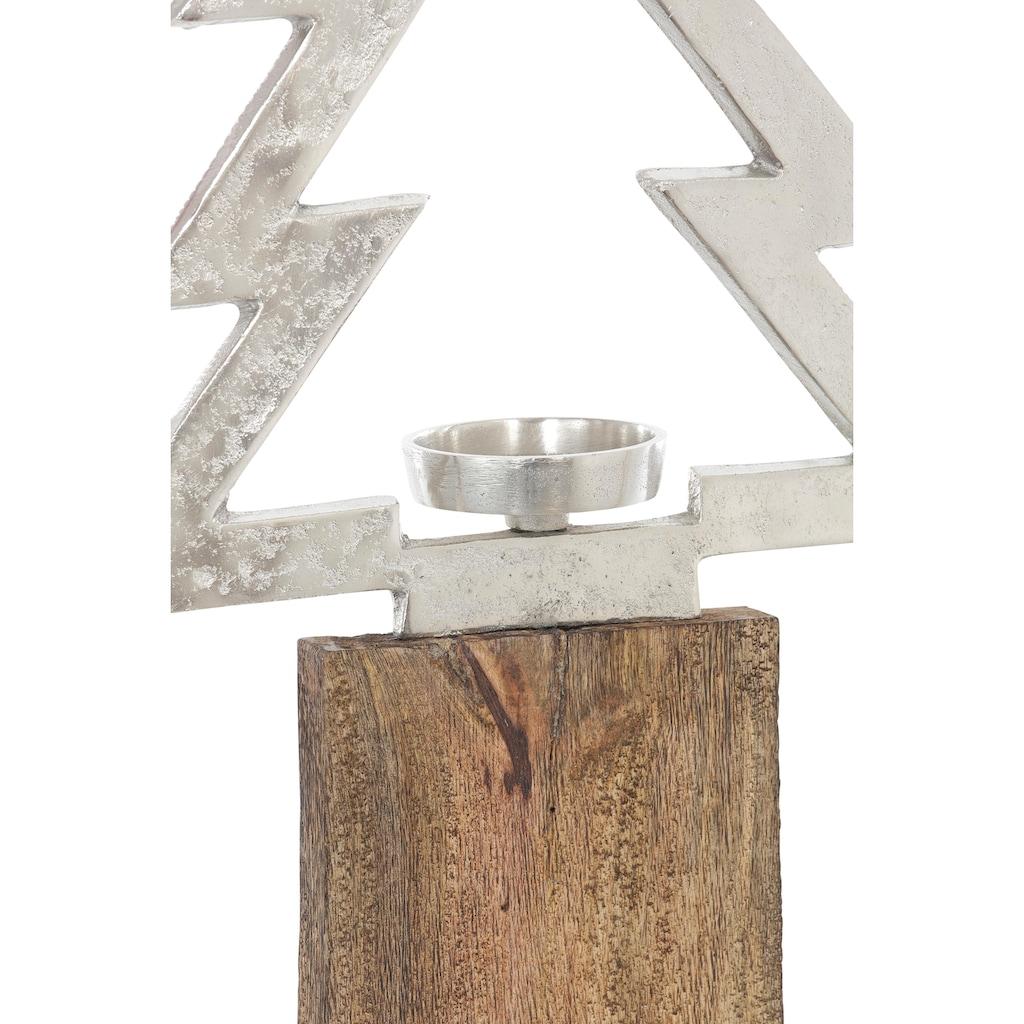 Kerzenleuchter »Baum«, auf Holzsäule