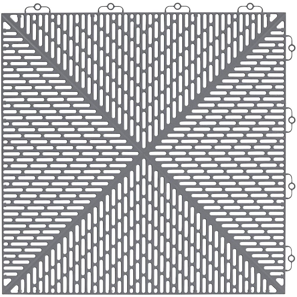 Bergo Flooring Klickfliesen-Eckleiste, für Kunststofffliesen in Steingrau