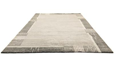 morgenland Wollteppich »Nepal Teppich handgeknüpft anthrazit«, rechteckig, 18 mm Höhe kaufen