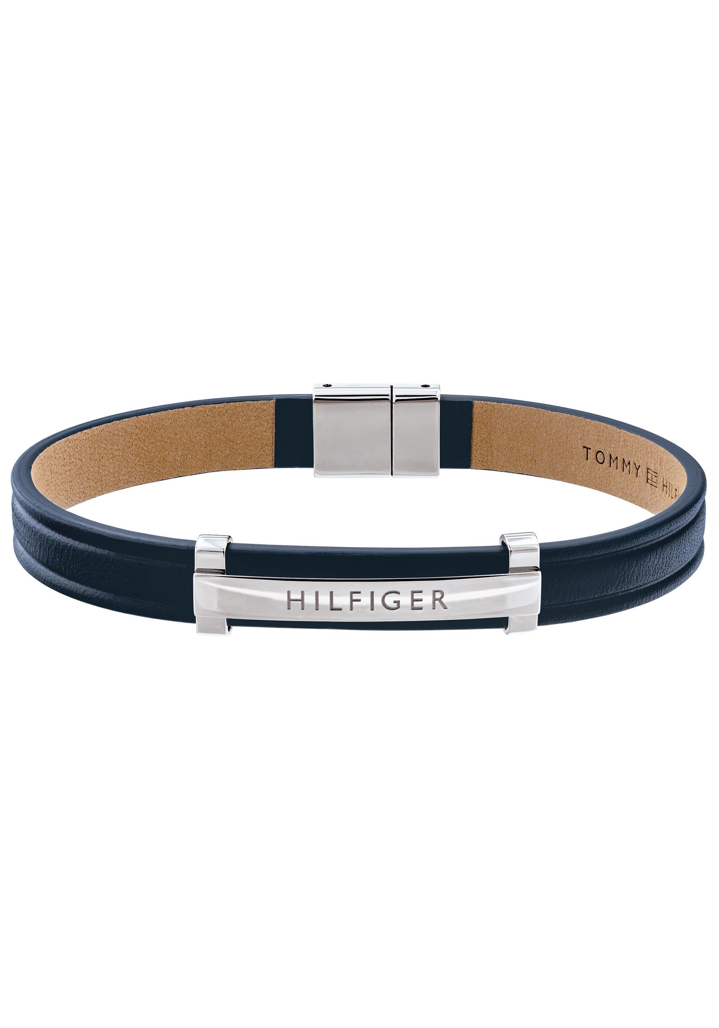TOMMY HILFIGER Lederarmband DRESSED UP 2790160 | Schmuck > Armbänder > Lederarmbänder | Blau | Tommy Hilfiger
