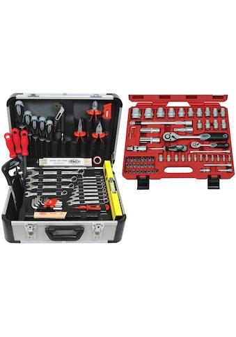FAMEX Werkzeugset »729-24«, (107 St.), im Werkzeugkoffer kaufen