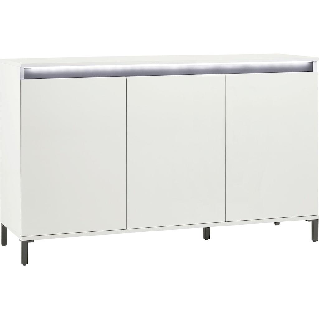KITALY Sideboard »Genio«, Breite 138 cm, mit wendbare Blende