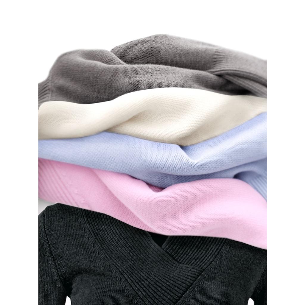 LINEA TESINI by Heine Strickpullover »V-Pullover«
