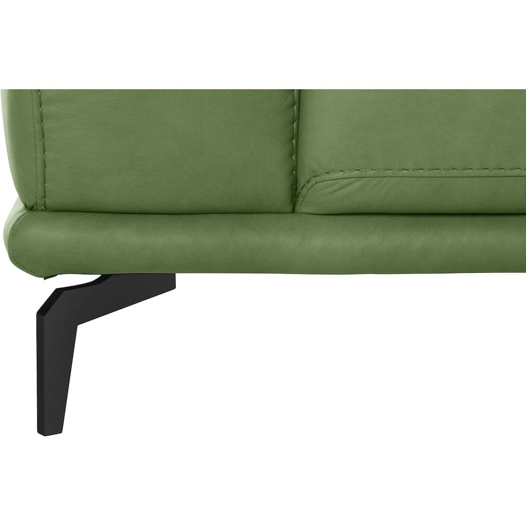 W.SCHILLIG 2,5-Sitzer »montanaa«, mit Metallfüßen in Schwarz pulverbeschichtet, Breite 212 cm
