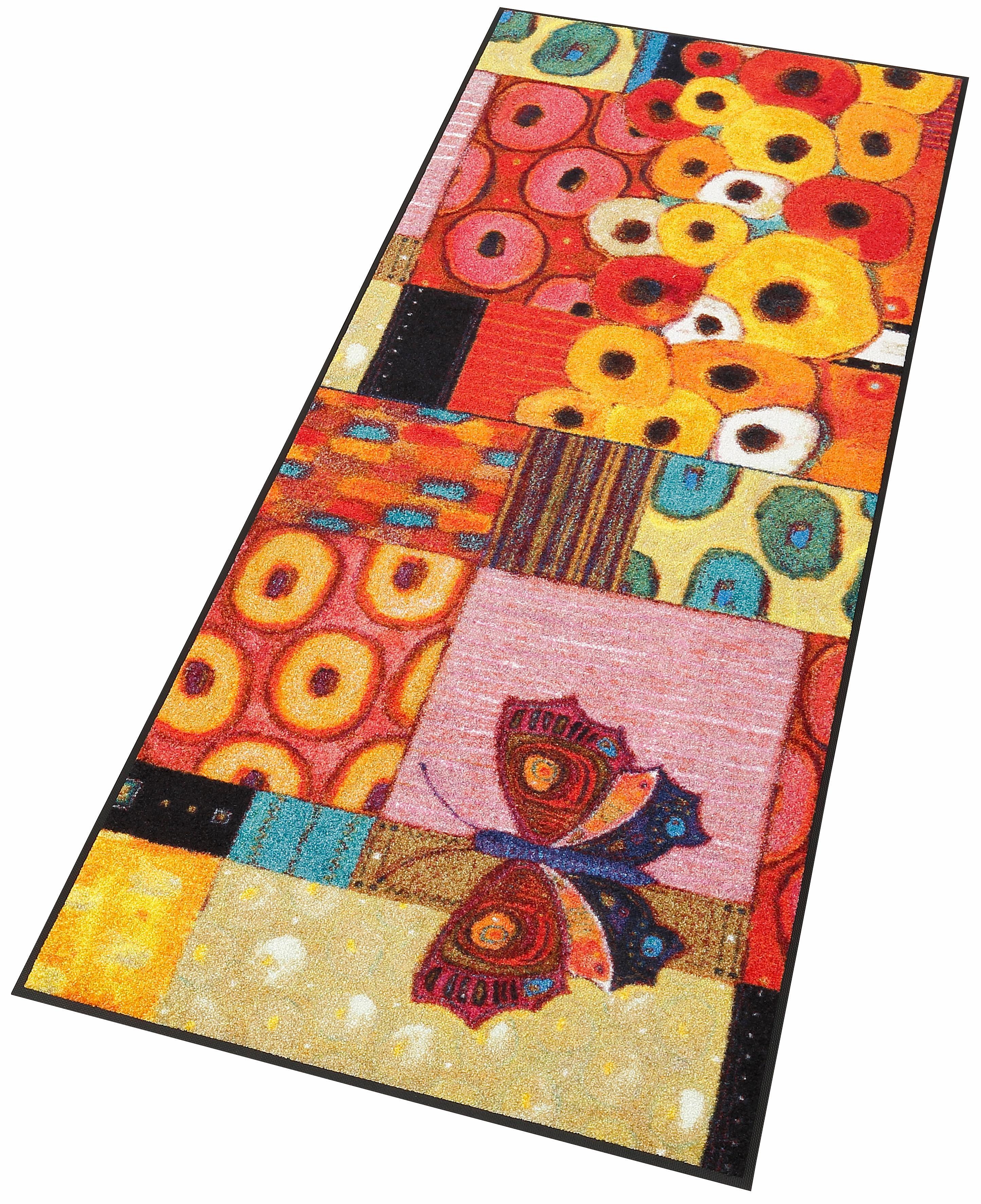 Läufer Colourful Moment wash+dry by Kleen-Tex rechteckig Höhe 7 mm gedruckt