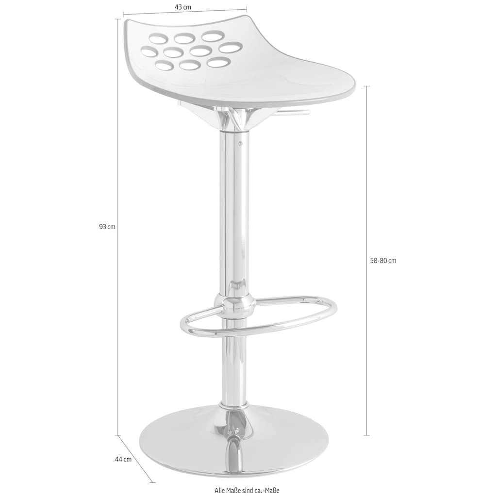 connubia Barhocker »Jam CB/1476_P77«, höhenverstellbar und um 360° drehbar