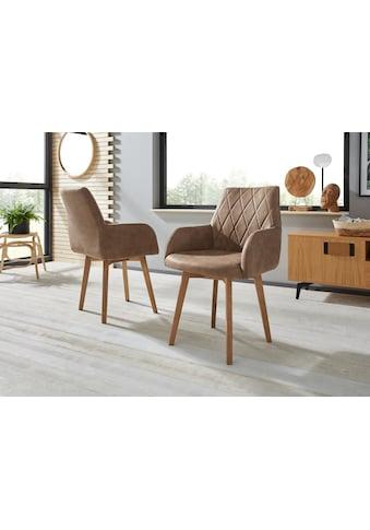 Premium collection by Home affaire Armlehnstuhl »Brest«, Bezug in Leder oder... kaufen