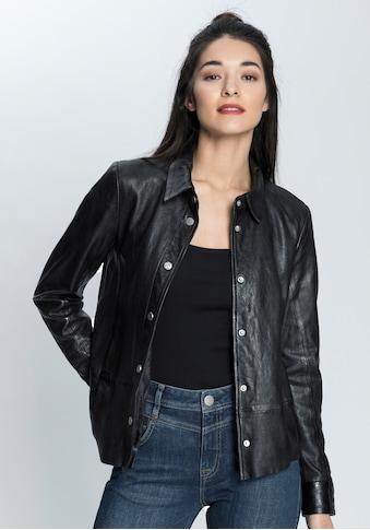 Gipsy Lederjacke »Blaer«, lässiges Lederhemd aus softem Nappaleder kaufen