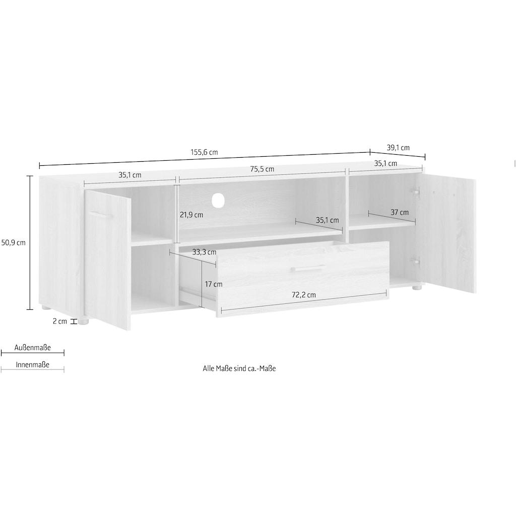 Home affaire TV-Board »Match«, mit einer praktischen Kabeldurchführung, pflegeleichte Oberfläche, Breite 155,6 cm