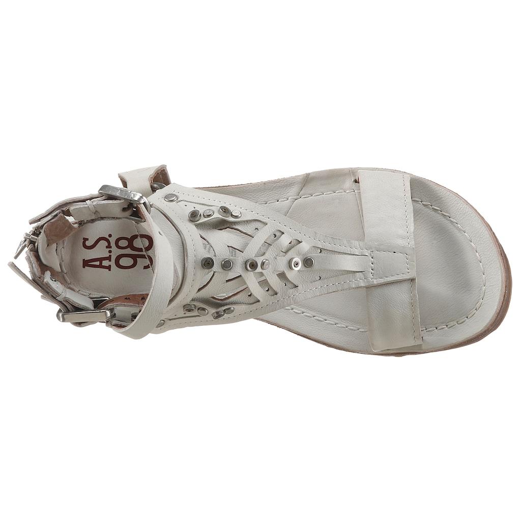 A.S.98 Riemchensandale »RAMOS«, mit Nieten geschmückt