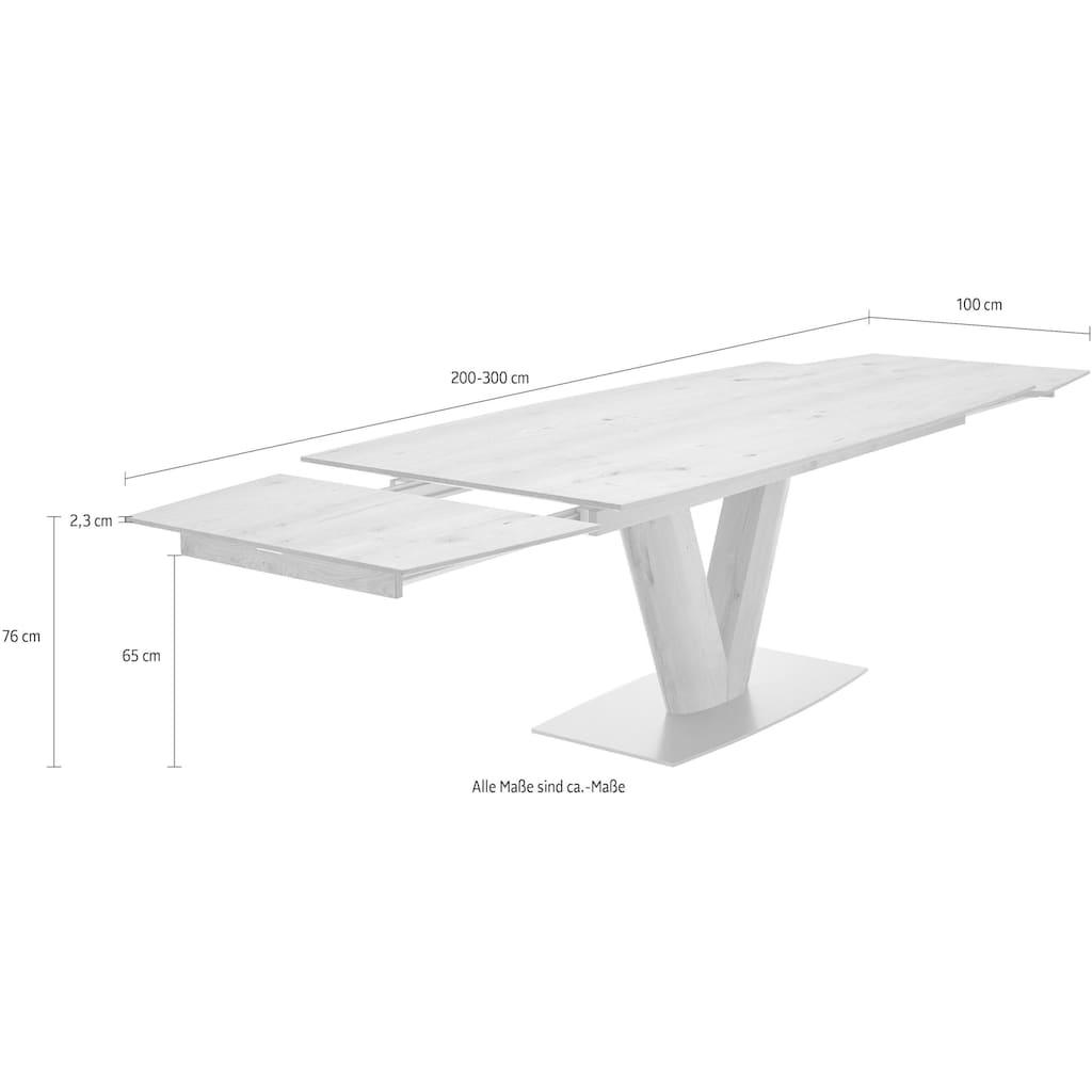 GWINNER Esstisch »Anzio«, inklusive Auszugsfunktion, in zwei Breiten