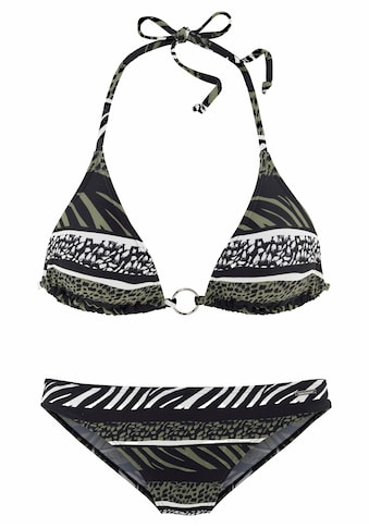 Bruno Banani Triangel-Bikini, im Animaldesign kaufen