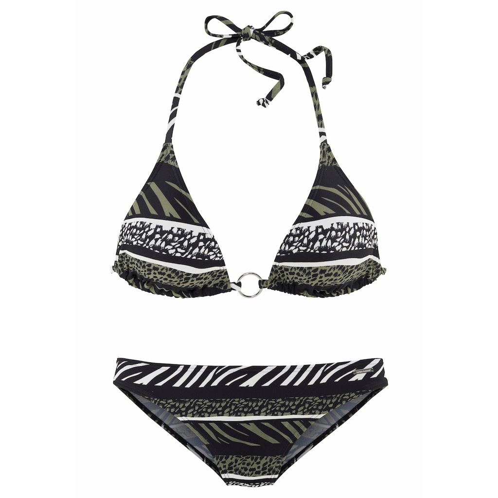 Bruno Banani Triangel-Bikini, im Animaldesign