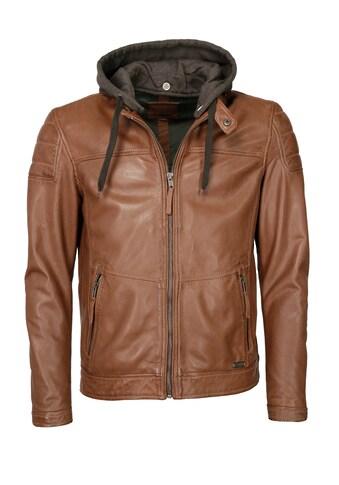 MUSTANG Lederjacke »31020187«, mit Kapuze kaufen