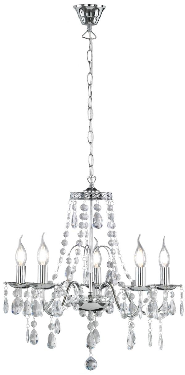 TRIO Leuchten Kronleuchter Baroque, E14, Hängeleuchte, Pendellampe, Pendelleuchte, Leuchtmittel tauschbar
